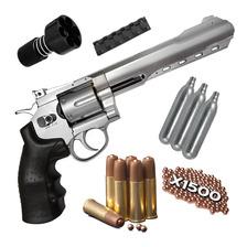 Pistola Revolver Aire Comprimido Co2 Swat Balines Garrafas