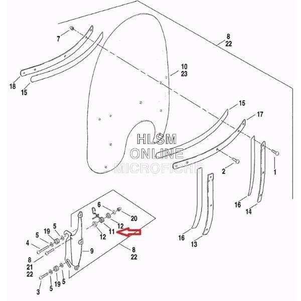 Trava Parabrisa Harley Heritage Lado Esquerdo - 58252-95