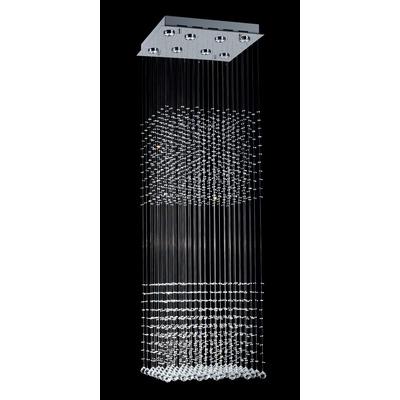 Colgante Mather Doble Cairel Con 8 Led Gu10 Incluidas