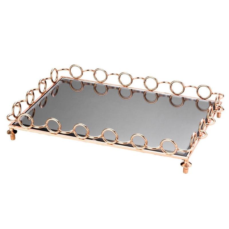 Bandeja Ball de Metal com Espelho - Lyor 4103417