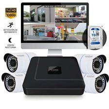 Kit 4 Camaras De Seguridad Hd Con Dvr Y Disco 1tb Gadnic