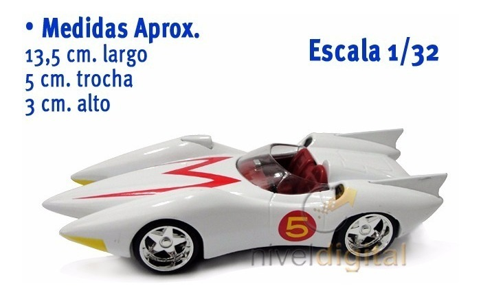 Auto Meteoro Mach 5 Speed Racer 1:32 Licencia Jada Die Cast