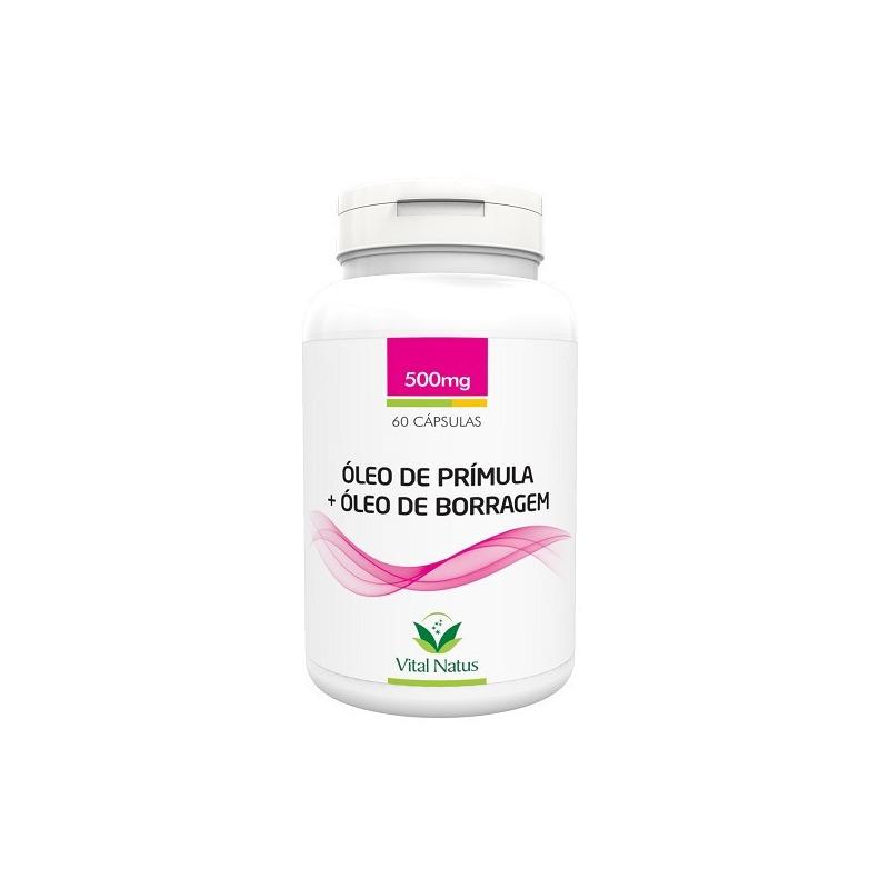 Oleo de Primula+Oleo de Borragem - 60 Caps.500mg Vital Natus