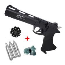 Pistola Fox Cp400 Co2 Revolver Cargador Garrafas Balines 4 5
