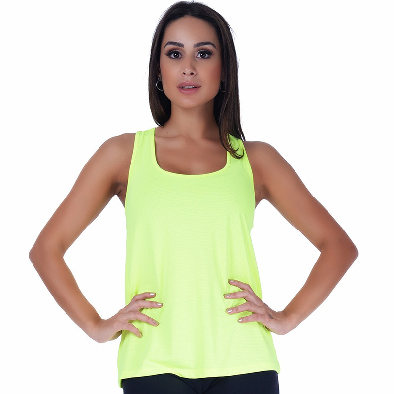 Regata Summer Soul Fitness Verde Limão