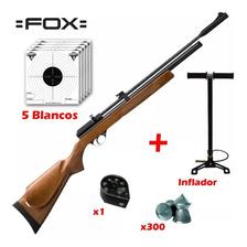 Rifle Aire Comprimido Fox Pcp + Cargador 7 Tiros + Inflador