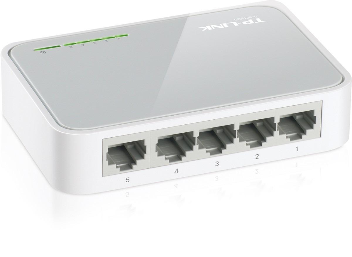 Switch 5 Puertos Tp-link Tl-sf1005d 10/100 Mbps 5 Bocas