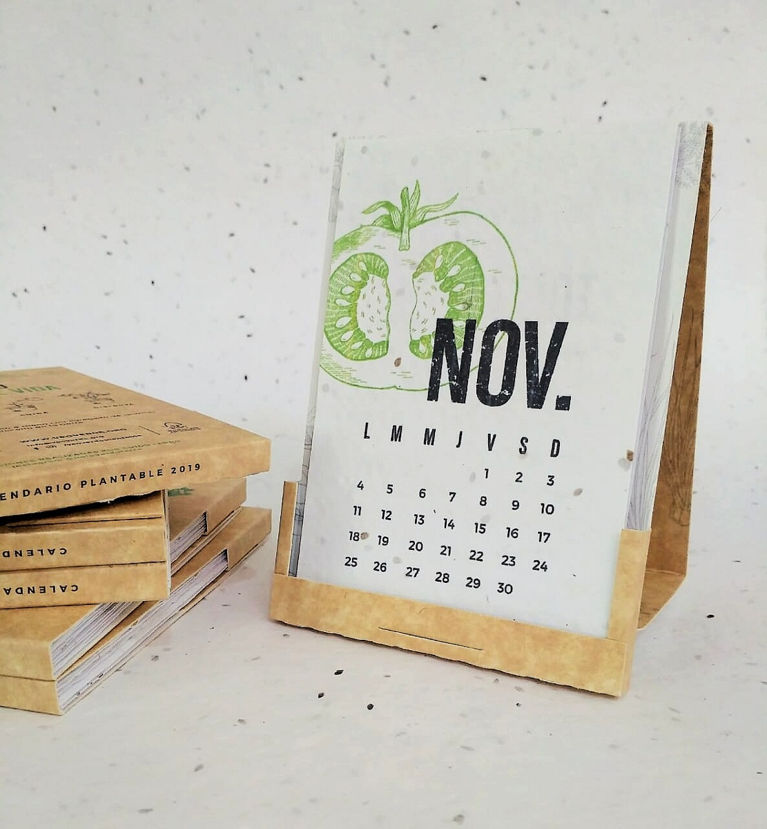 Combo 5 - Calendario Plantable 2019 - Papel Reciclado Con...