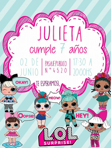 Invitación Digital De Cumpleaños Lol Surprise en venta en Congreso Capital Federal Capi
