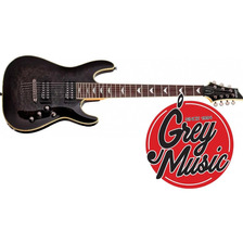 Guitarra Schecter Omen Extreme-7 Cuerdas Thru Black (stblk)