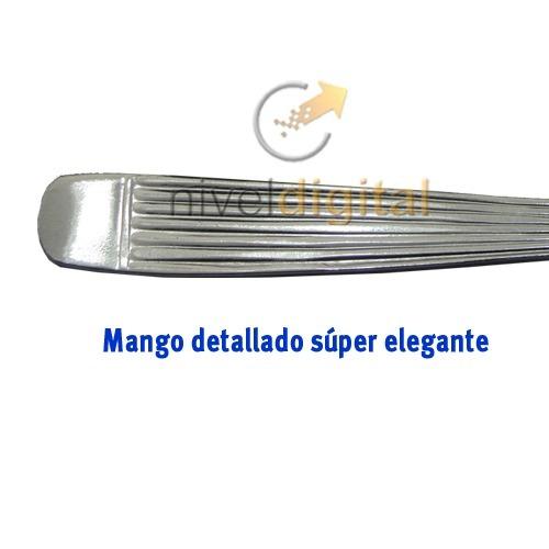 6 Cucharitas Cafe Carol Acero Inoxidable Mango Detallado