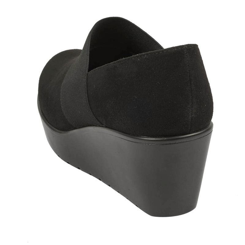 Mocasín plataforma negro gamuza 016737