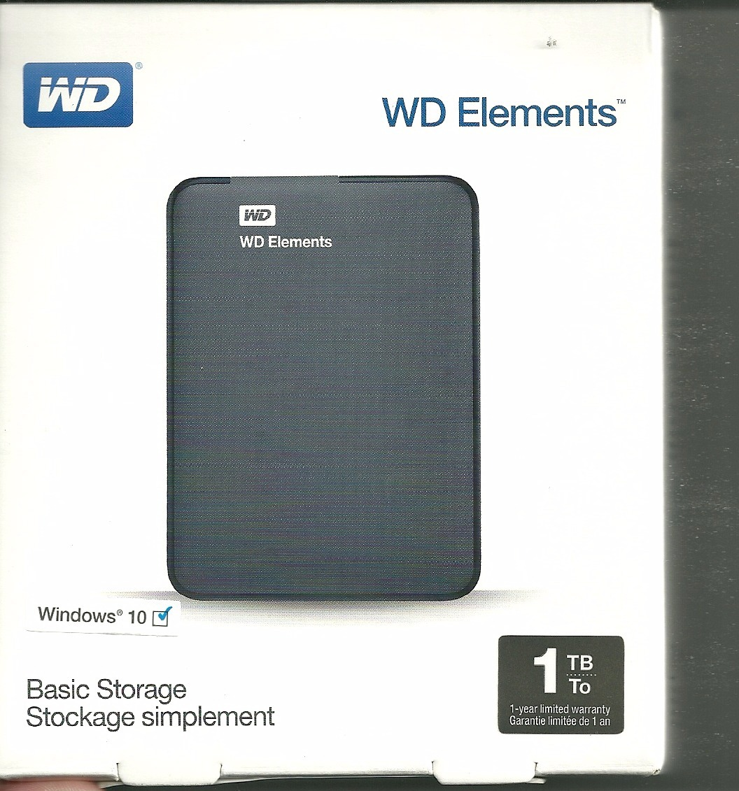 Disco Rigido Externo 1tb Western Digital Elements Wd