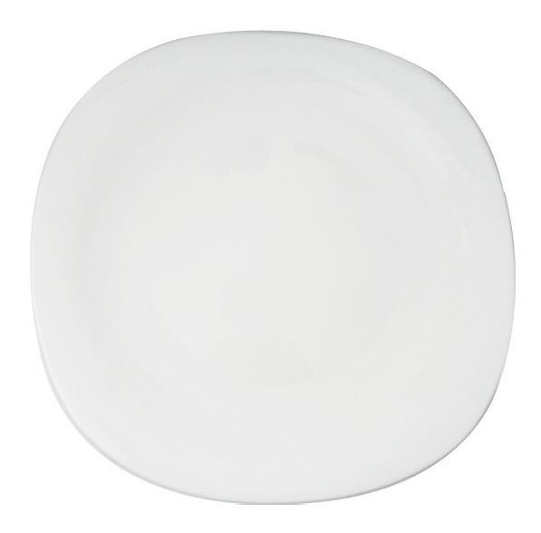 Plato Bandeja Cuadrado 32 5 Cm Gourmet Vidrio Blanco Microon