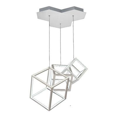 Aplique Colgante Dados 5079/3 Led 80w Aluminio