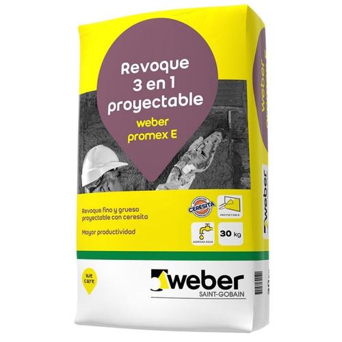 Revoque Exterior Proyectable Promex E 3 En 1 X 30kg Weber