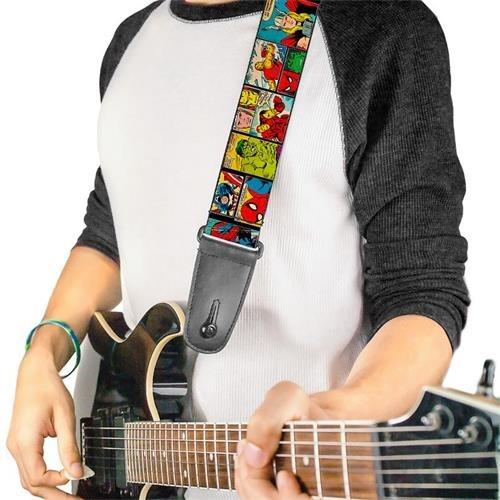 Correa Guitarra / Bajo Buckle Down Gs-wav042 Logo Marvel