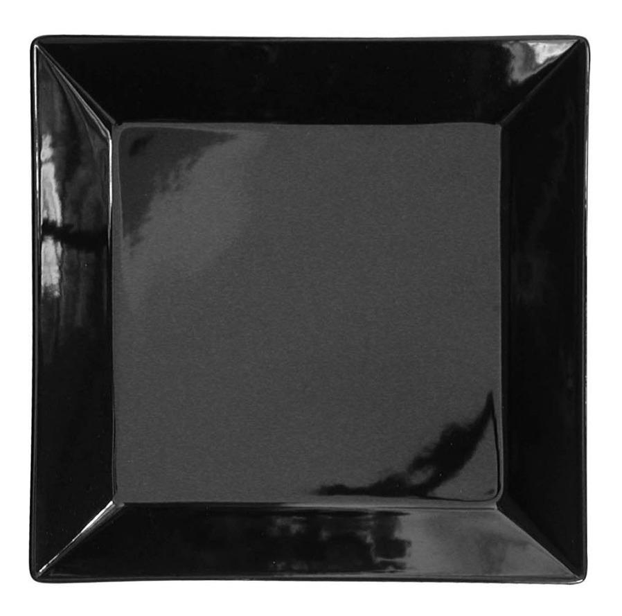 Plato Postre Cuadrado 20 5 Cm Porcelana Negra Oxford Sushi