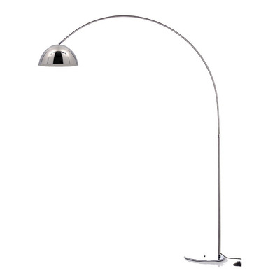 Lampara De Pie Arco Large Cromo Apto Led Luz Desing