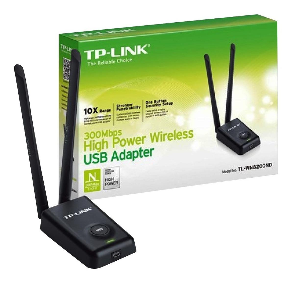 Adaptador Usb Wifi Tp-link Wn8200nd 300mb Ant 2x 5dbi 8200nd