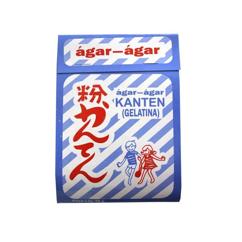 Gelatina de Agar Agar (Algas Marinhas) em Po 10g - Kanten