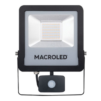 Reflector Led Macroled Con Sensor De Movimiento 50w