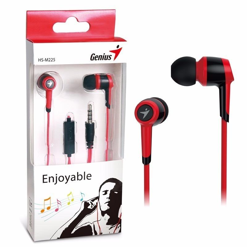 Auricular Genius Hs M225 In Ear Manos Libres Mic 3.5 Rojo