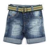 Bermuda Jeans Masculina com Cinto Crawling