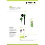 Auriculares Panacom Hp-9334 Green