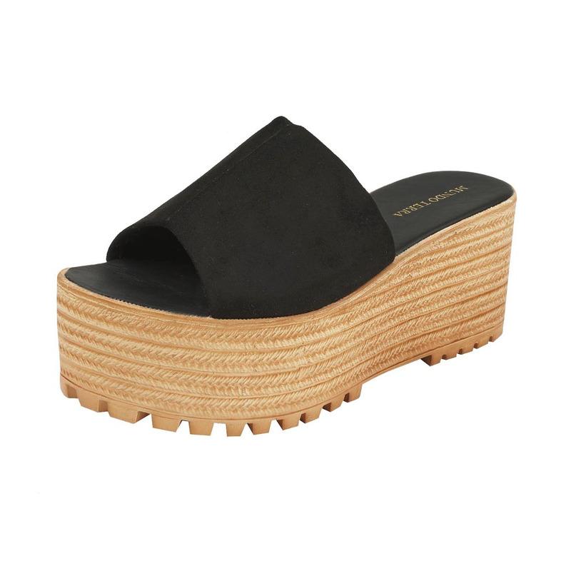 Sandalia plataforma negra 016253