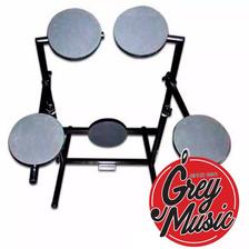 Bateria Muda De 5 Cuerpos Con Soporte Dkm Bm - Grey Music -
