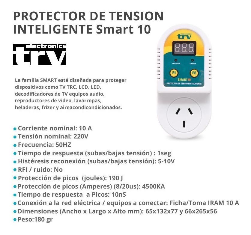 Protector De Tension Trv Smart 10 Inteligente - Configurable