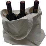 Kit Sacola ecológica + 3 Vinhos Tinto Seco Izabel/Bordô 720ml