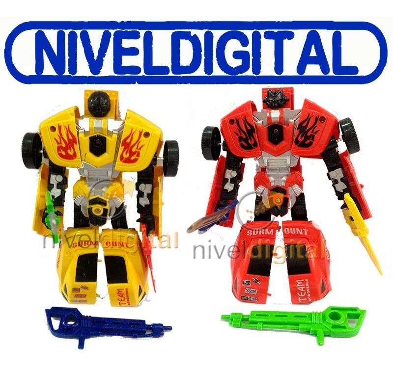 Autobot Transformer Bumblebee Robot Con Armas Realistico