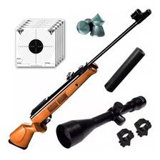 Rifle Aire Comprimido Fox Gr1600 6 35 Nitro Piston Mira 4x40