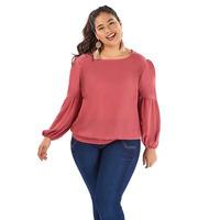 Blusa rosa manga larga  014374P