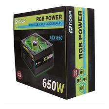 Fuente Para Pc 650w Atx Luces Rgb P4 Pci-e 6+2p Noga Net