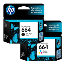 Cartuchos Hp 664 Combo Negro + Color Original P/ 2135 3775