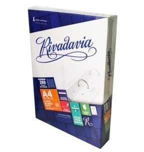 HOJAS RIVADAVIA A4, 288 HOJAS RAYADAS Y CUADRICULADAS. 21...