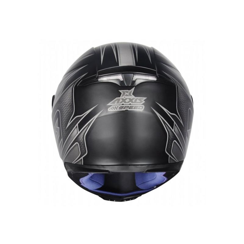 Capacete Axxis Eagle Speed Cinza Com Viseira Fumê