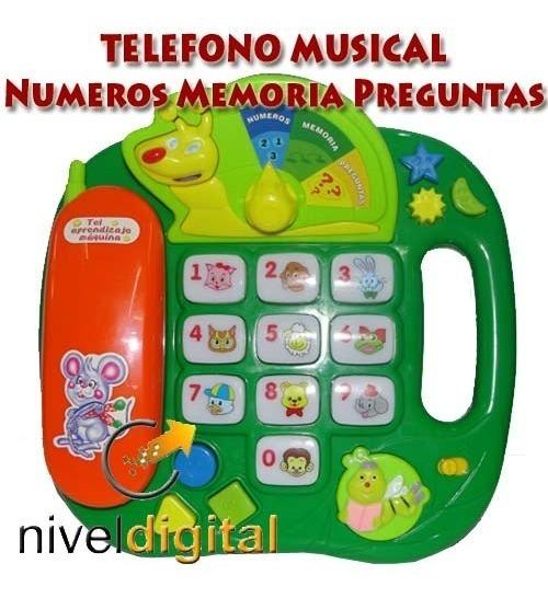 Telefono Didactico Luz Sonido Animales Numeros Memoria Bingo