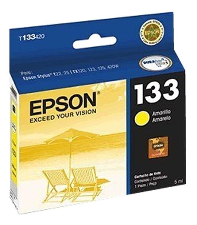 Cartucho Epson 133 Color Amarillo Original T133420