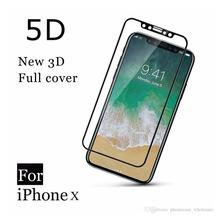 Glass Vidrio Templado iPhone X 10 4d 5d Curvo + Funda Tpu
