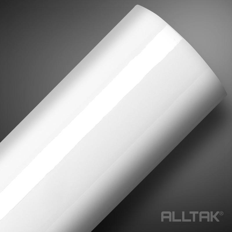Adesivo brilho ultra branco envelopamento automotivo  larg. 1,38 m