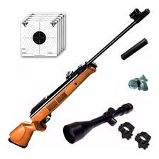 Rifle Aire Comprimido Fox Gr1600 X-nitro Piston + Mira 4x40