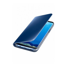 Funda Clear View Flip Cover Samsung A8 A8+ Standing + Glass