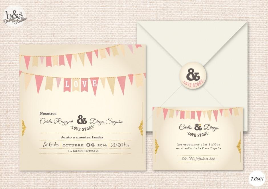 Invitación casamiento TB001