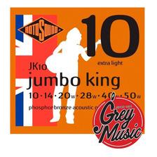 Rotosound Jk10 Jumbo King Encordado 010 Guitarra Acustica