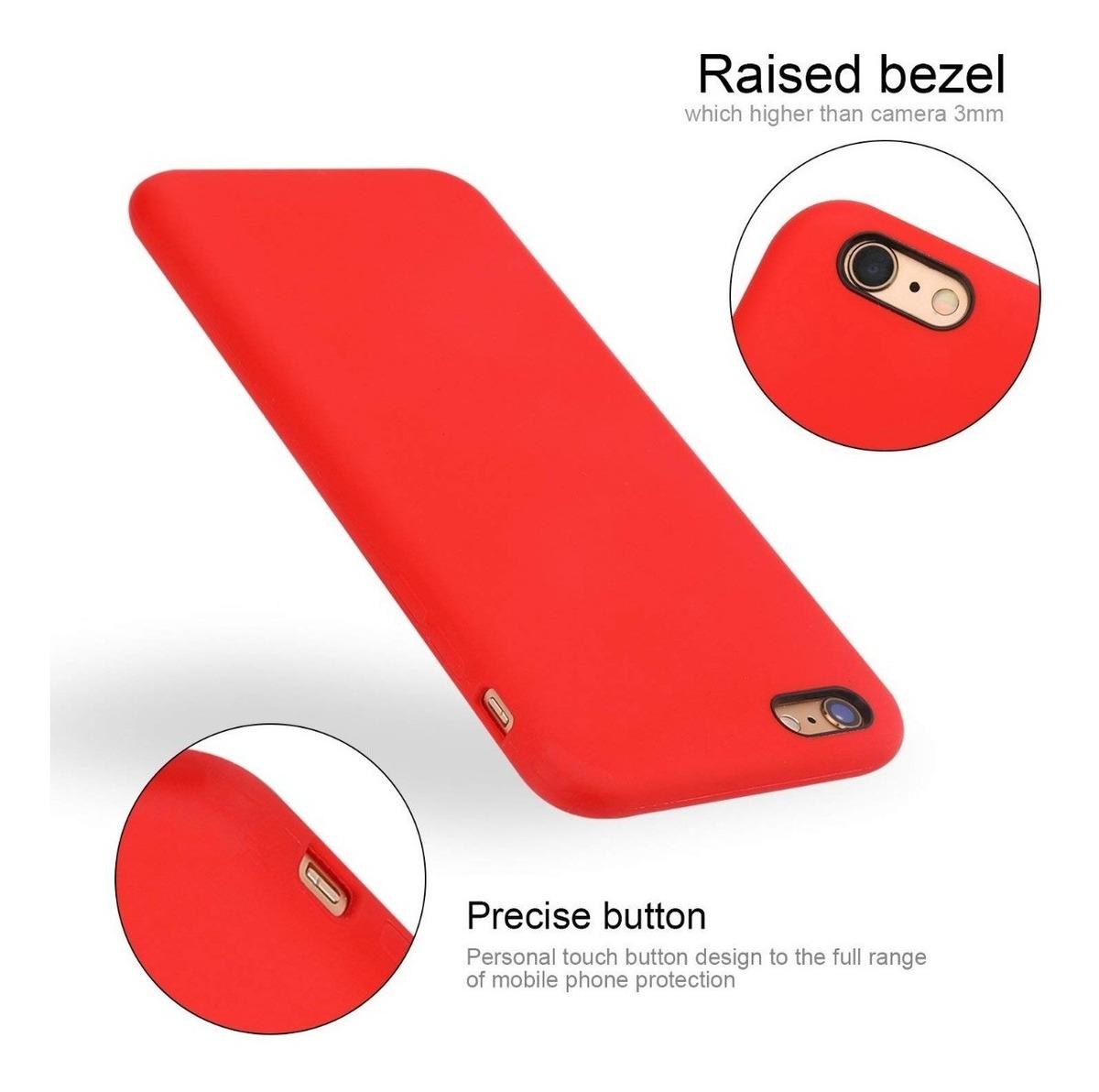 Funda Silicona Soft Case Gamuza iPhone 6 6s 7 8 Plus X Xs Tienda