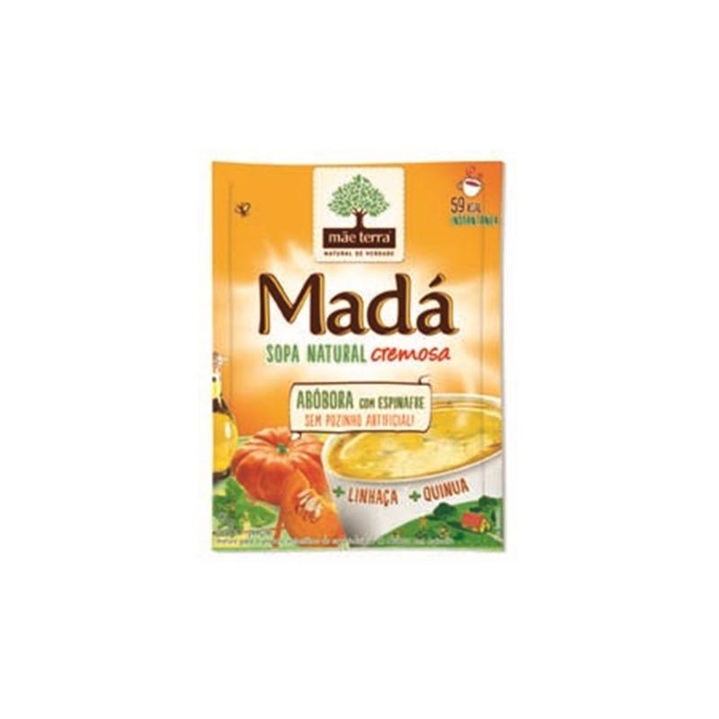 Sopa Mada Abobora+Espinafre+Quinua+Linhaca - 17g Mae Terra